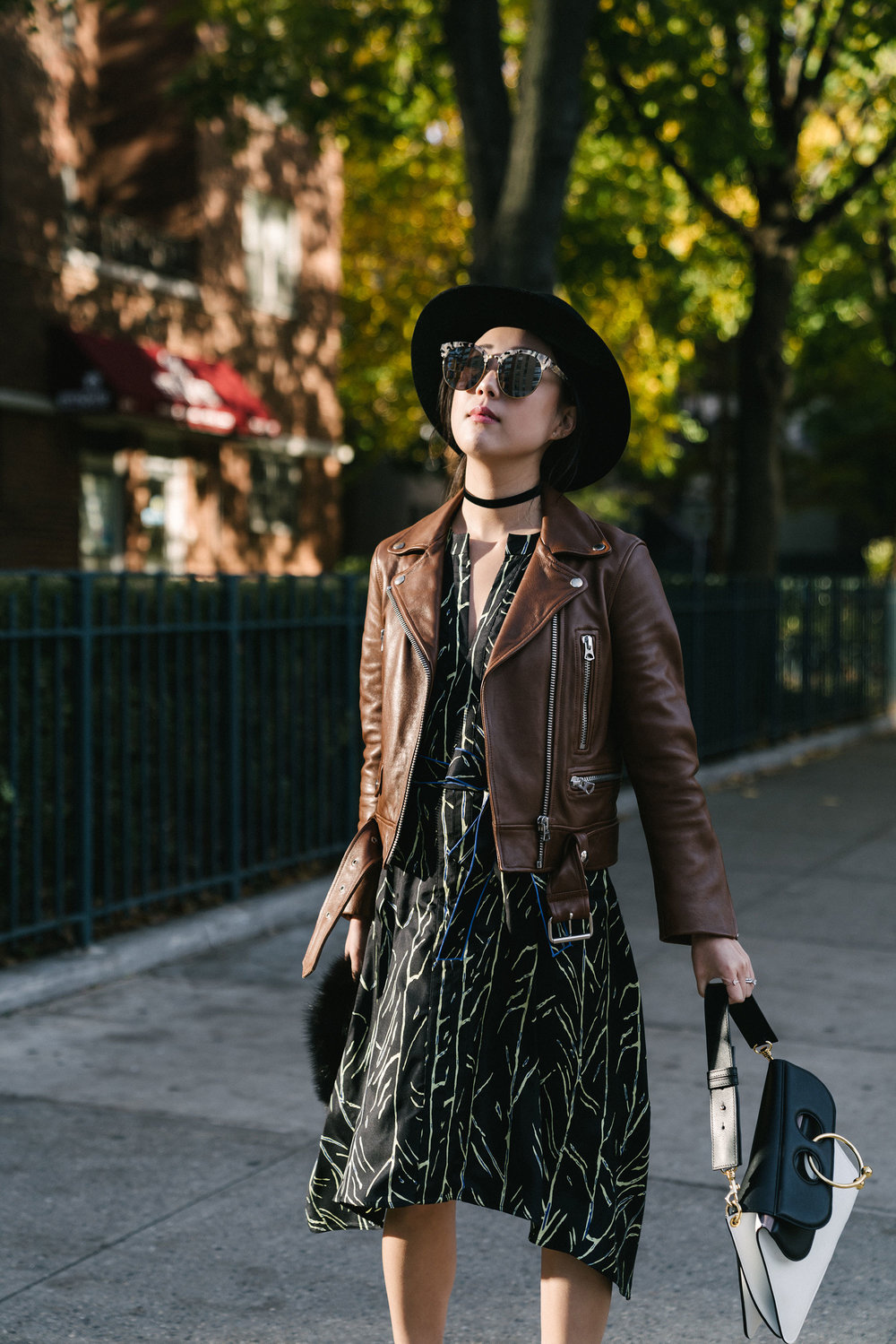 Acne Studios Jacket, Proenza Schouler Dress, Alexander Wang Boots, J.W.Anderson Bag, Janessa Leone Hat