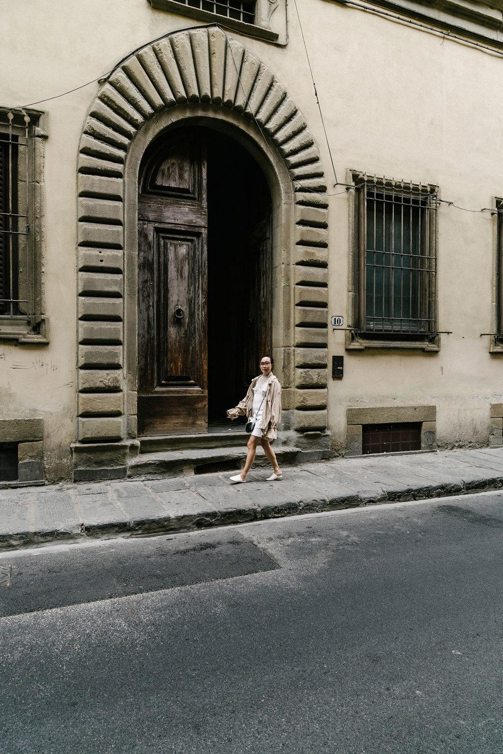 Loewe Jacketand Sunglasses, Self Portrait Dress, Vince Shoes, Chanel Bag