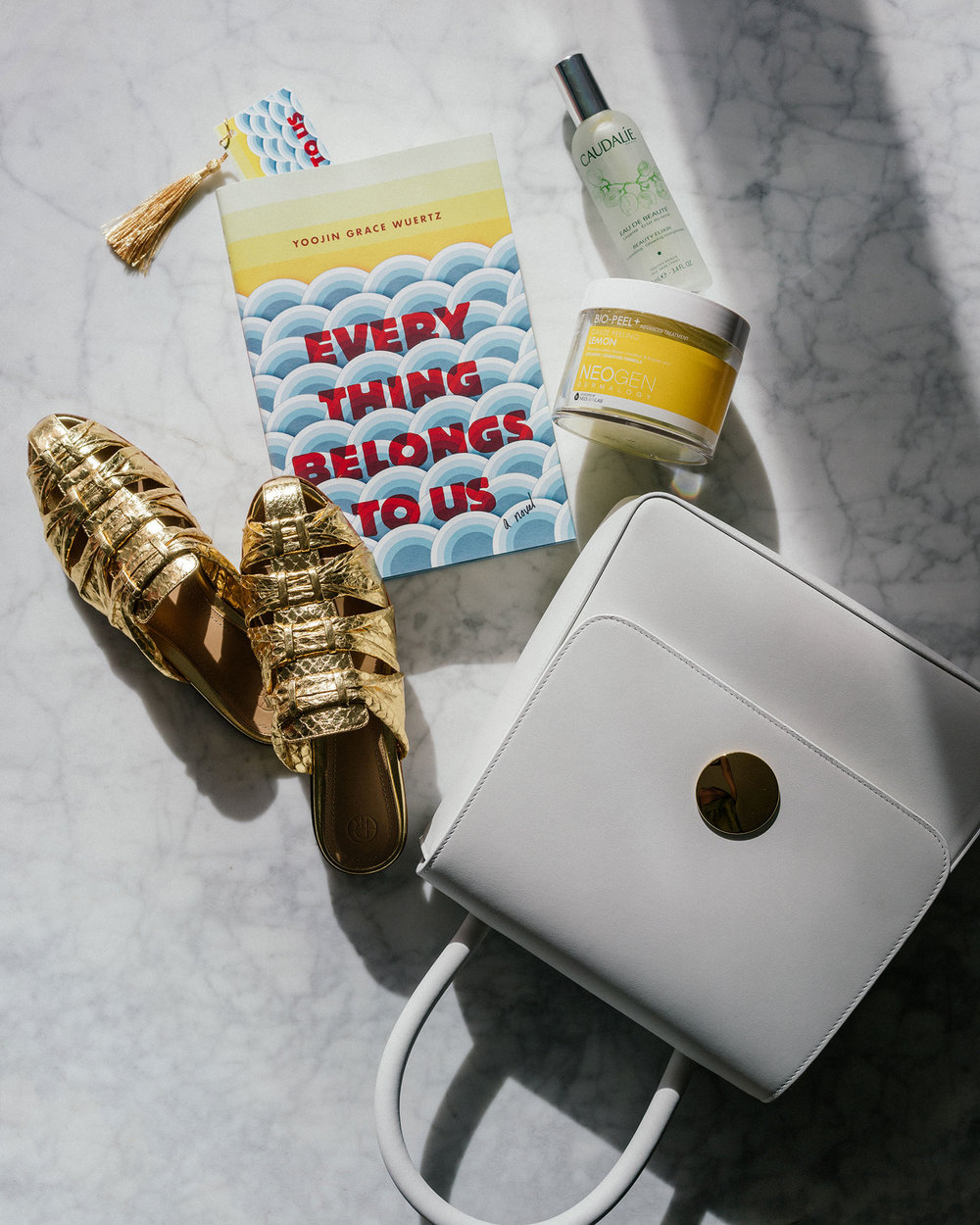 Everything Belongs To Us ,  Caudalie Mist ,  Neogen Treatment ,  Mansur Gavriel Bag ,  The Row Shoes