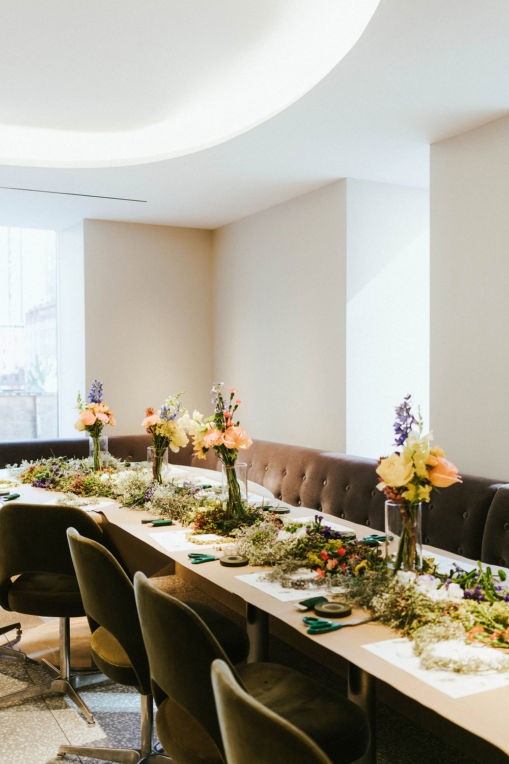 Barneys  summer solstice breakfast at  Freds Downtown  with  Pop Up Florist
