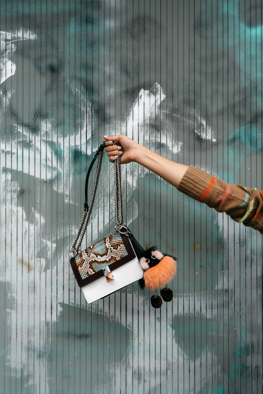 Fendi Bag and Keychain