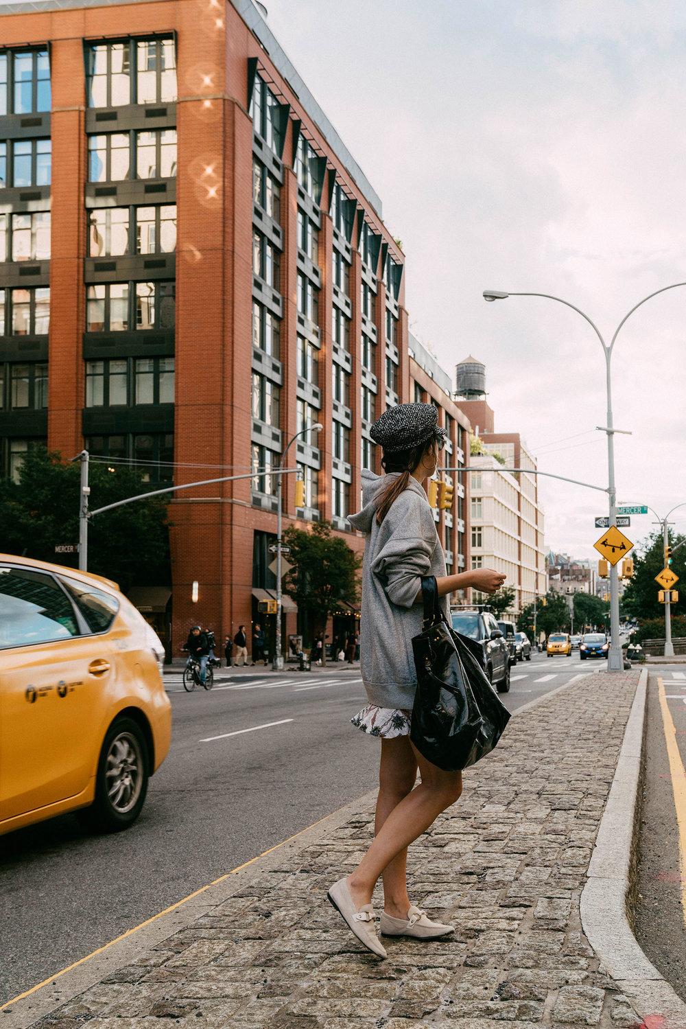 Isabel Marant Sweatshirt, Isabel Marant Bag, Isabel Marant Shoes (Similar), Eugenia Kim Hat