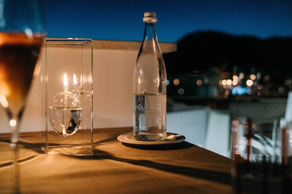 Armani Water! Dinner at the incredible  Un Piano Nel Cielo at Casa Angelina