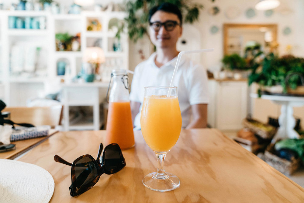 Fresh juice break at Casa e Bottega