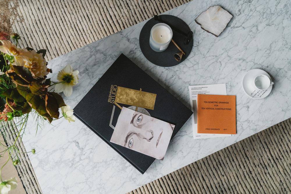 Ian Schrager Book, Byredo Candle, illy x Yoko Ono Espresso Cup