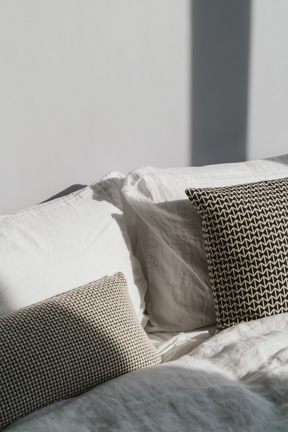 Linen Sheets from Design Within Reach ,  Herman Miller Pillows
