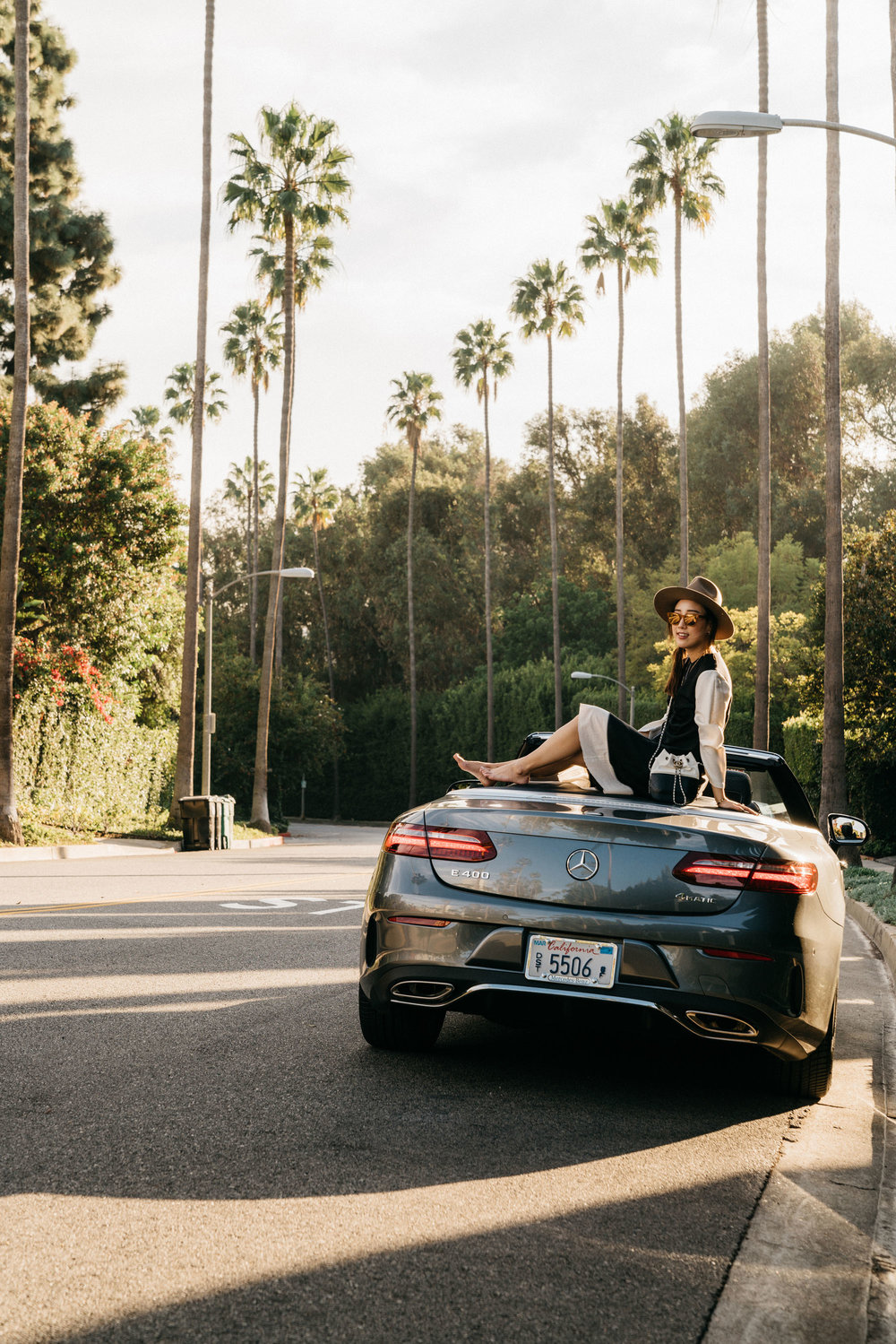 The E400 Cabriolet, our ride in LA via  She's Merecdes