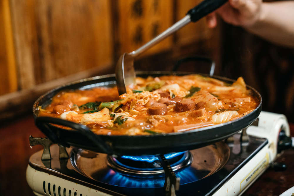 Boodae Jjigae at Chunju Han-Il Kwan in Koreatown