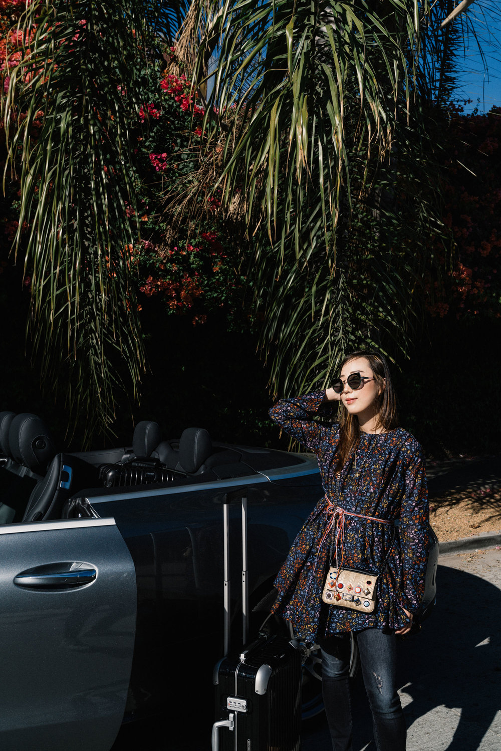 Elliette Dress , R13 Denim, Fendi Bag, Gentle Monster Sunglasses
