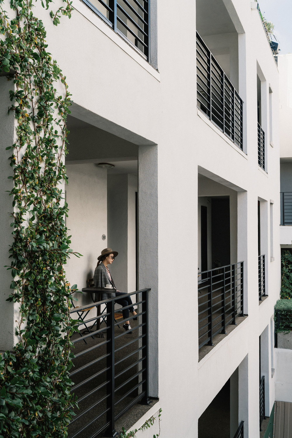Last day in LA. Wearing  Petite Studio Blazer ,  Asceno Top , R13 Denim,  Kenzo Sneakers