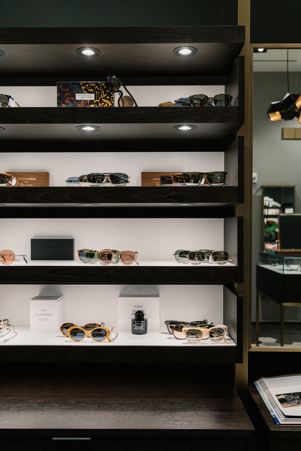 The new  Oliver Peoples boutique  at  Brookfield Place