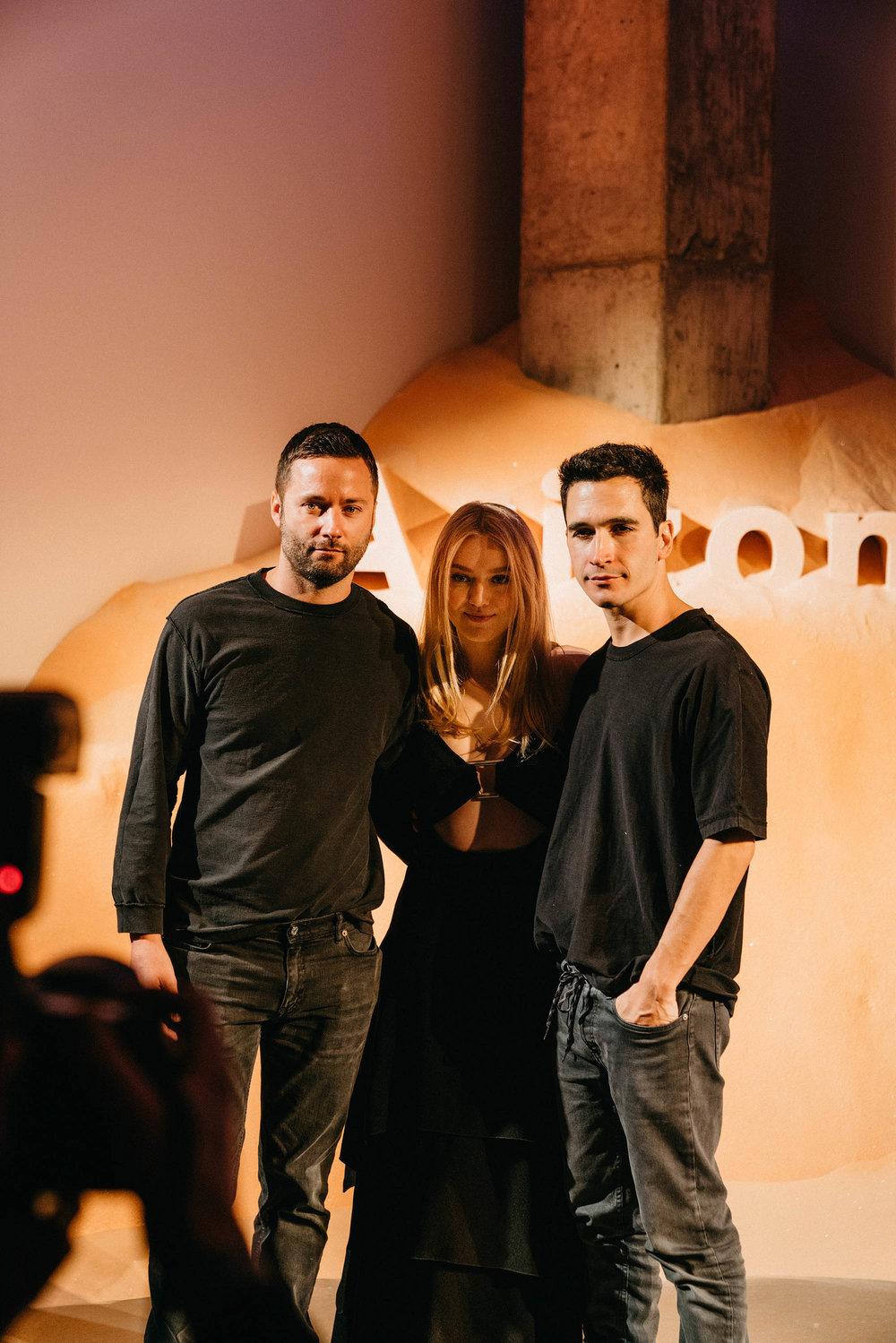 Proenza Schouler designers Jack McCollough and Lazaro Hernandez, Dakota Fanning