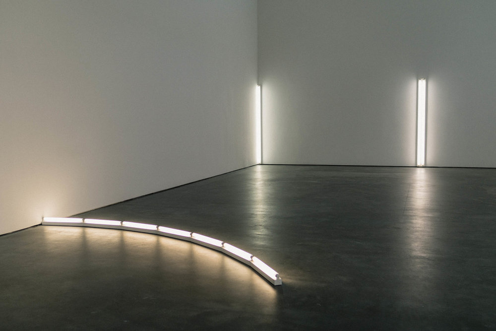 Dan Flavin 'in daylight or cool white' at David Zwirner Gallery