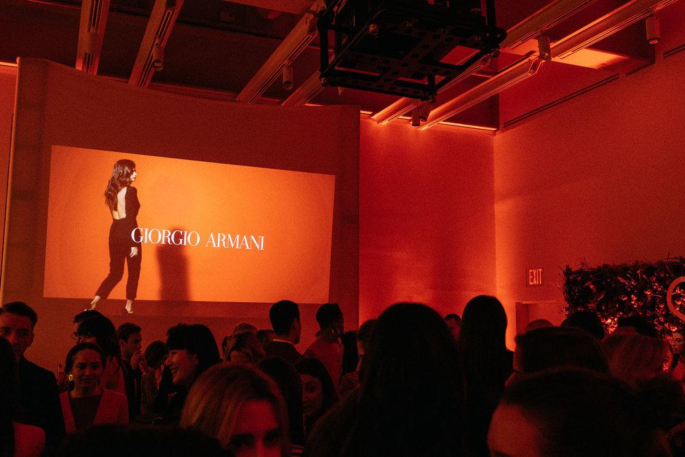 Celebrating the launch of  Giorgio Armani 's new fragrance,  Si Passione
