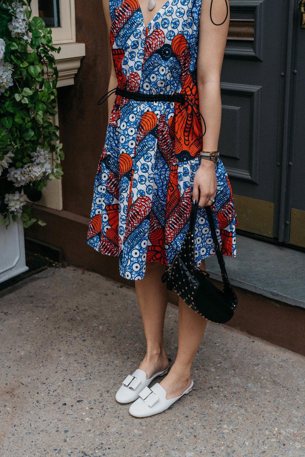 Stella McCartney Dress,  Valentino Bag ,  Salvatore Ferragamo Shoes