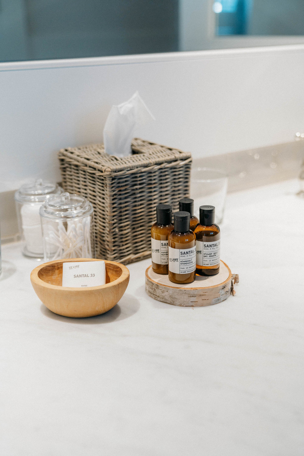 Le Labo toiletries in one of my favorite scents Santal 33!
