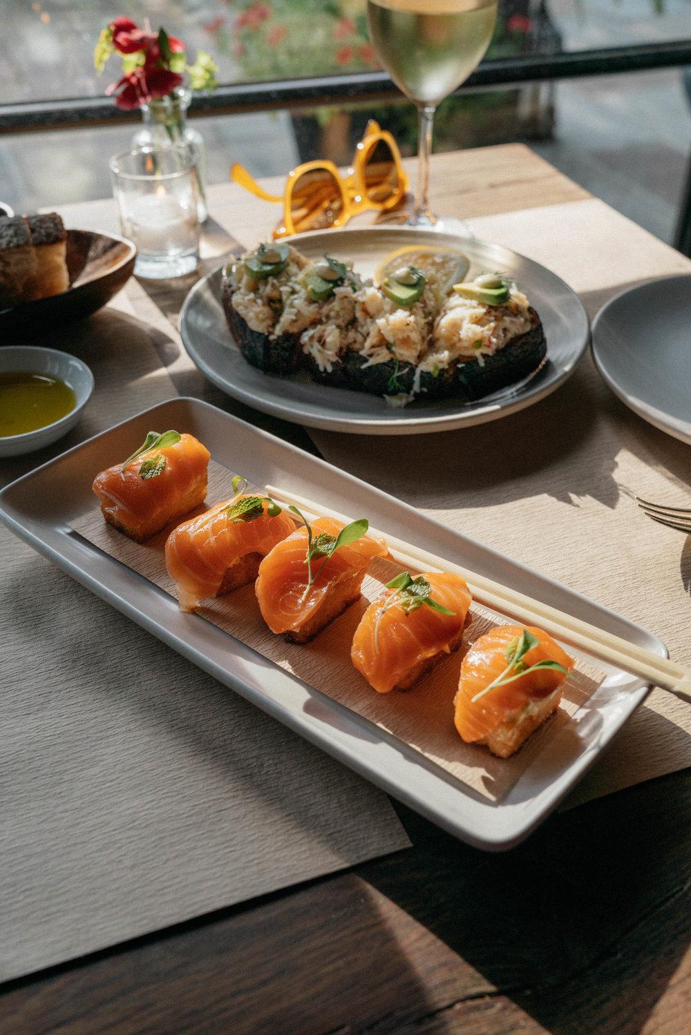 Crispy Salmon Sushi w/ Chipotle Mayonnaise