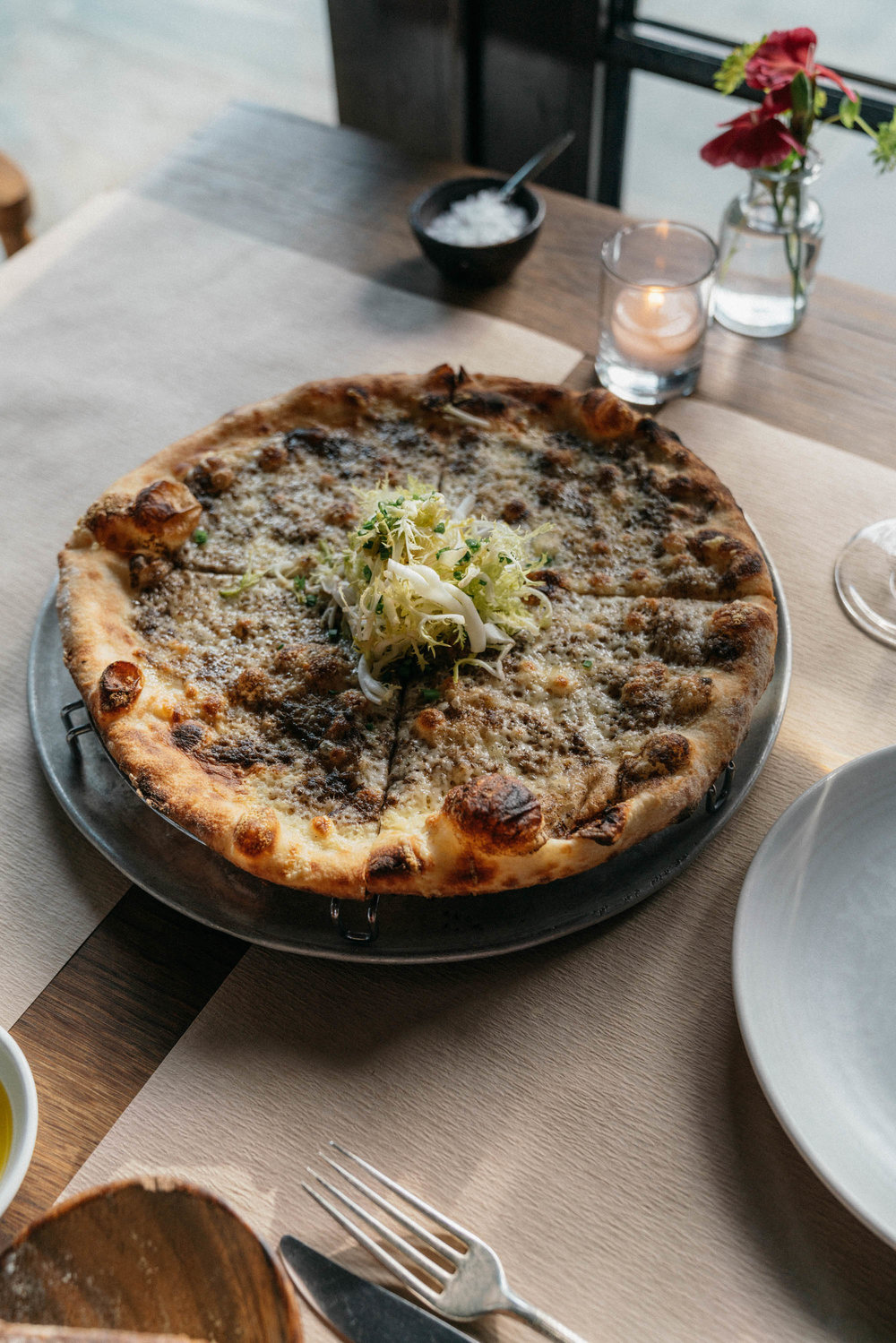 Black Truffle And Fontina Pizza