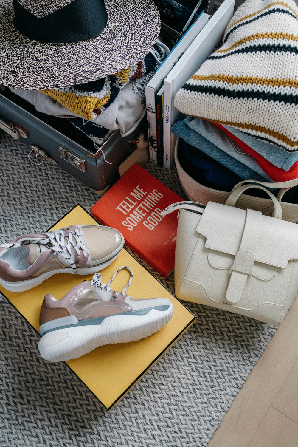 Fendi Sneakers ,  Senreve Bag