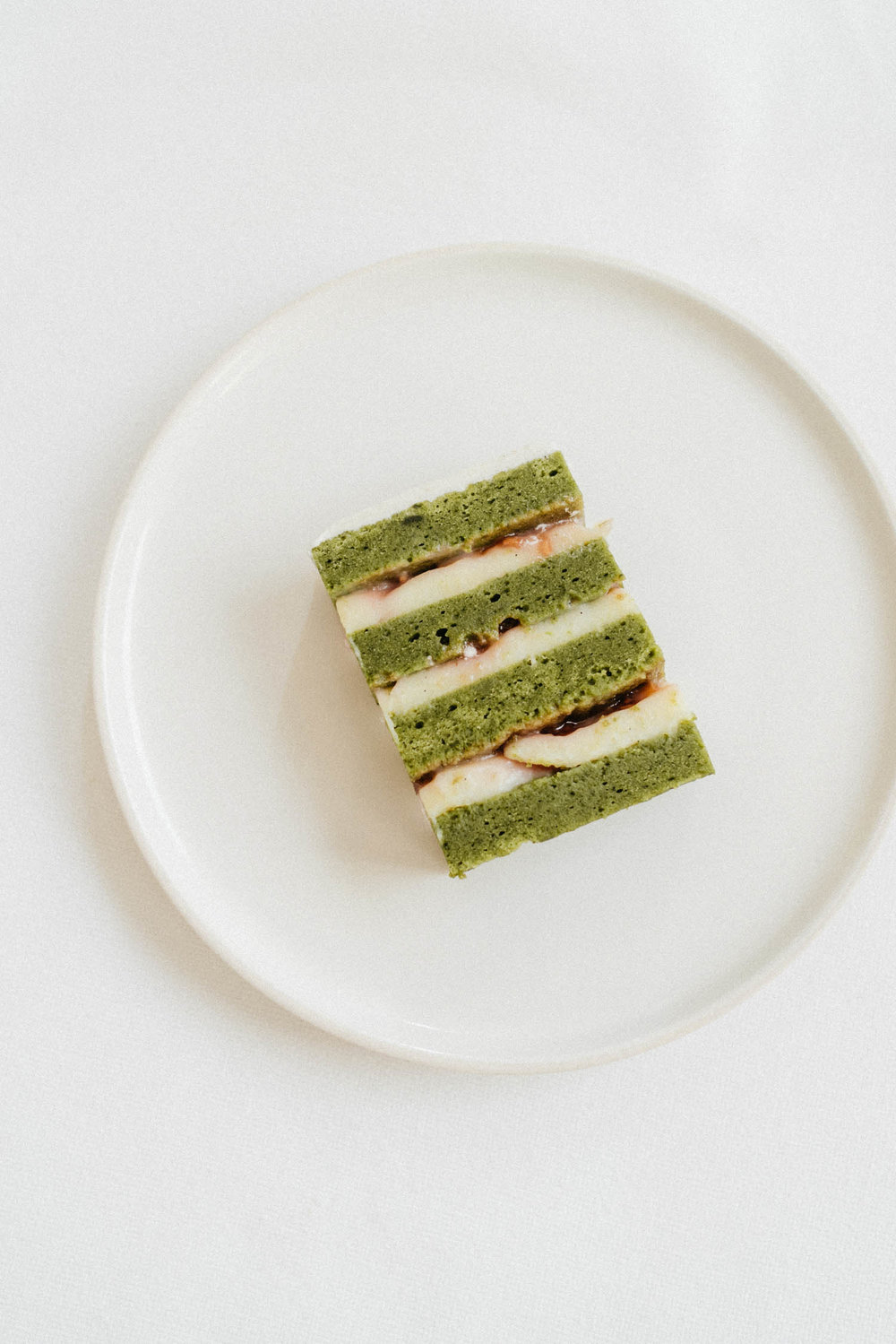 Thank you  Daniel Humm  and  EMP  for the birthday cake of my dreams – matcha and strawberry!