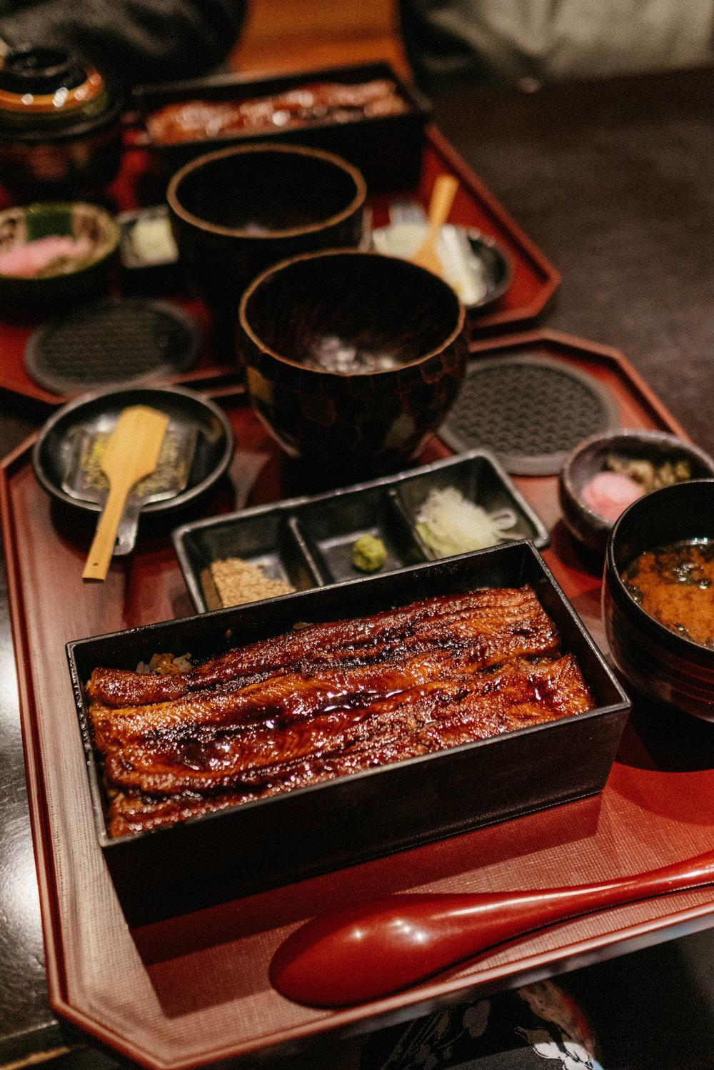 Unagi chazuke at  Ginza Tamai