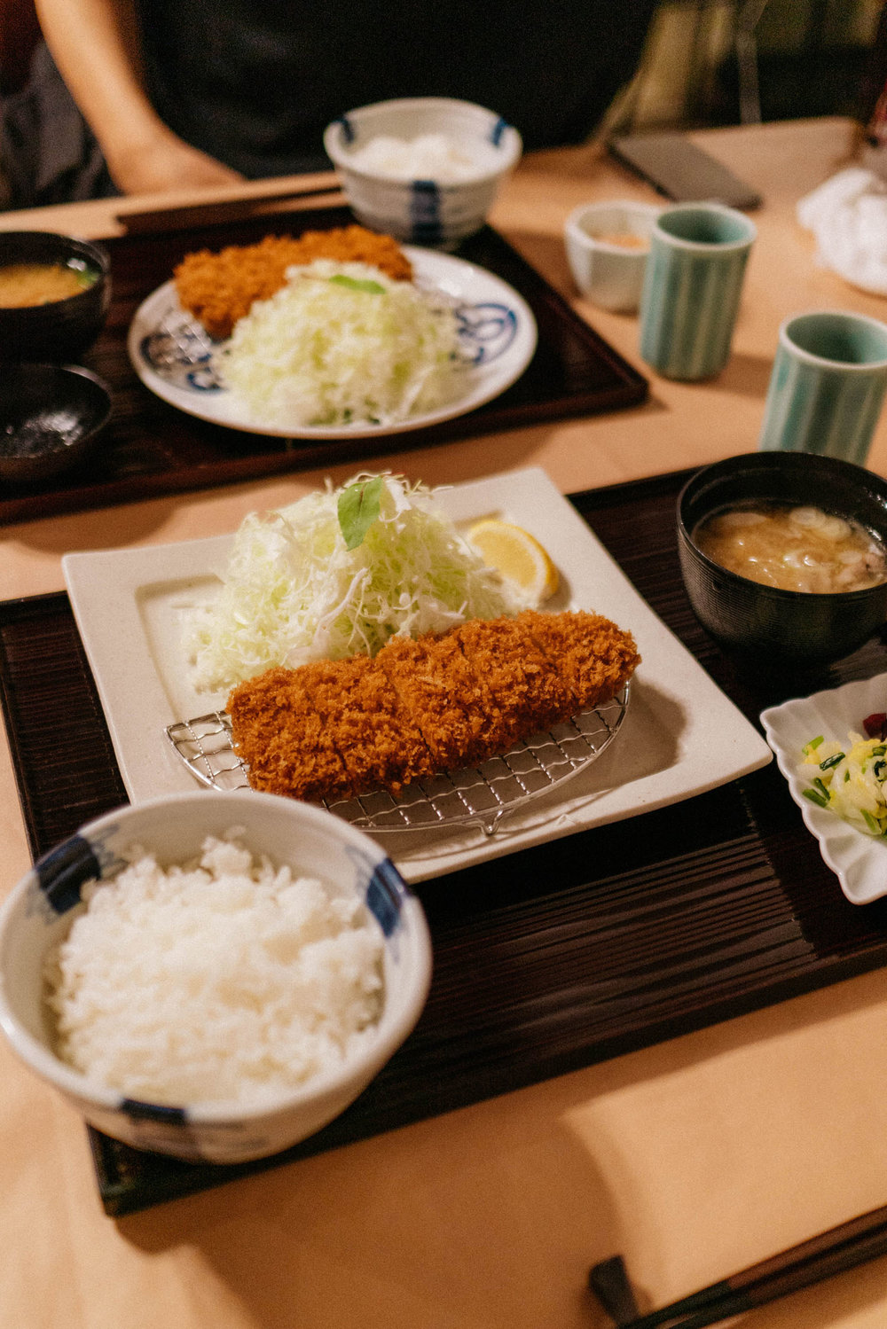 Maisen  – they have soooo many different kinds of Tonkatsu, and it was delicious! You can come early for the limited high-end cuts.