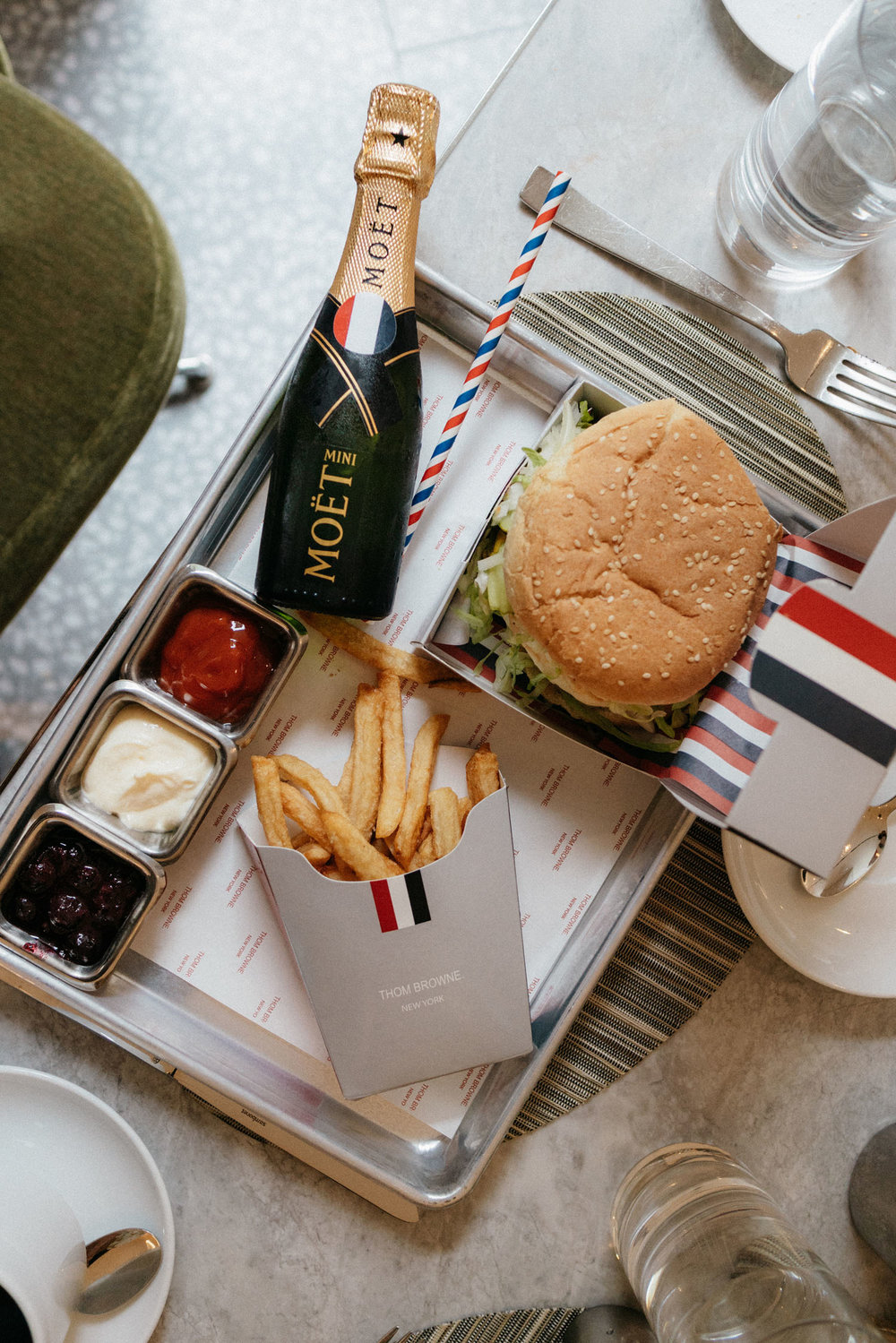 Thom Browne Burger at  Freds at Barneys New York Downtown
