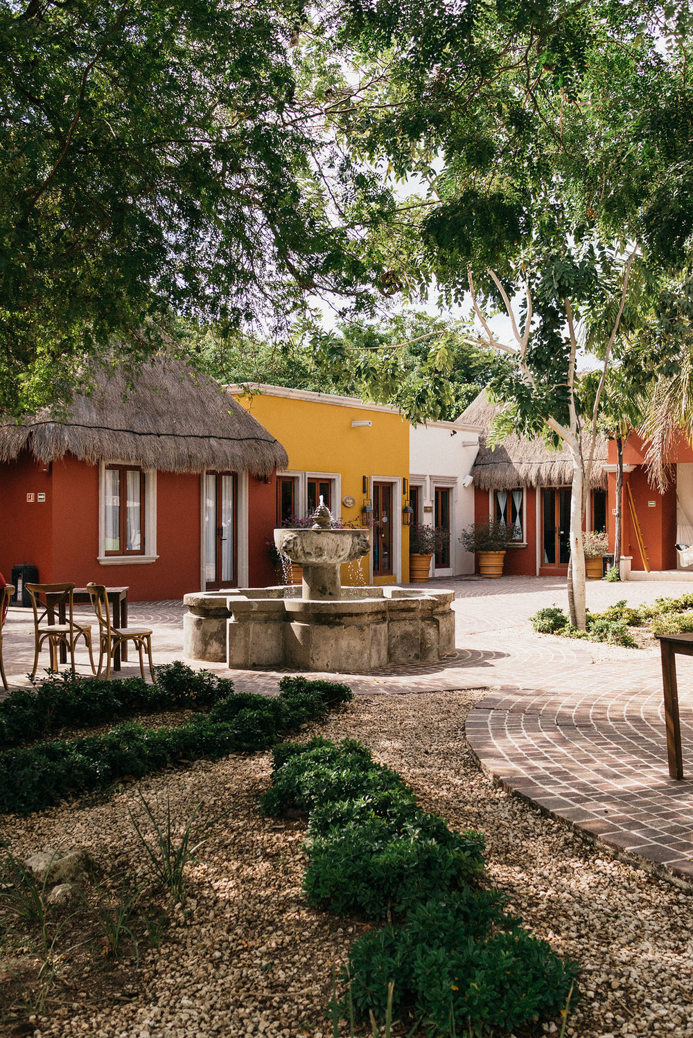 Rode our bikes to El Pueblito, a small square made up of restaurants, boutiques, and art galleries in the middle of Mayakoba complex designed as an authentic Mexican village square.