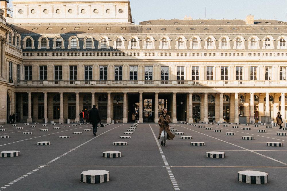 Can't leave Paris without a visit to  Les Deux Plateaux (Colonnes de Buren)