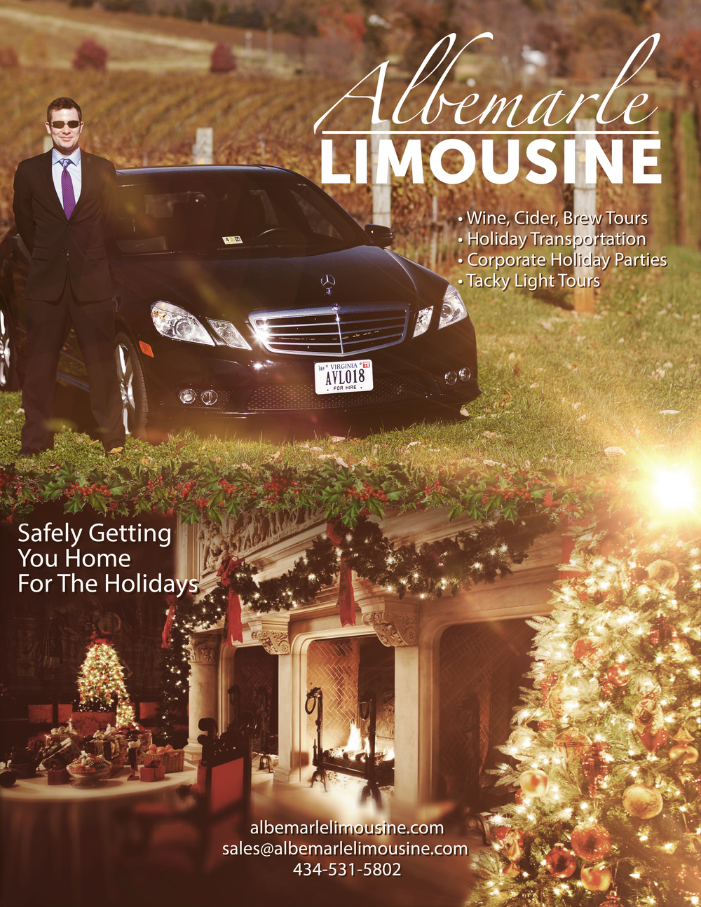 Richmond Tacky Light Tours and Holiday Travel with Albemarle Limousine