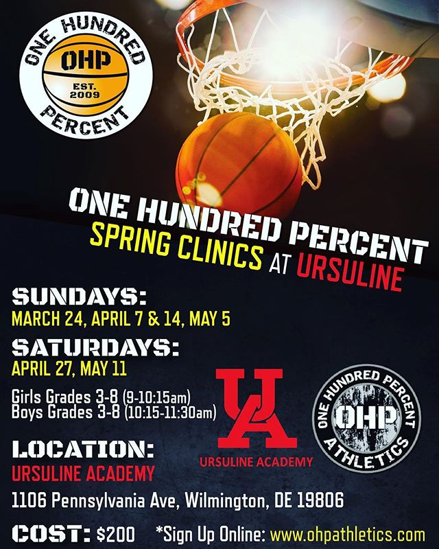 GIRLS CLINIC IS SOLD OUT !  Boys register today . #ohp🏀family #marchmadness#successisearned