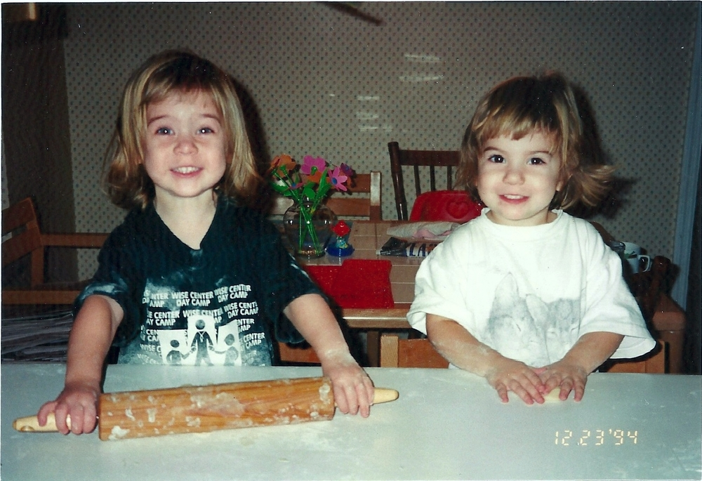 Age 2: Grace on the left, Maddie on the right