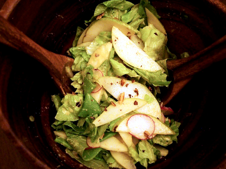 bibb-salad-pears-dijon-yogurt-dressing