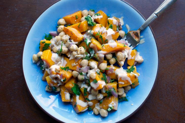 Warm Butternut Squash, Chickpea And Tahini Salad Recipes ...