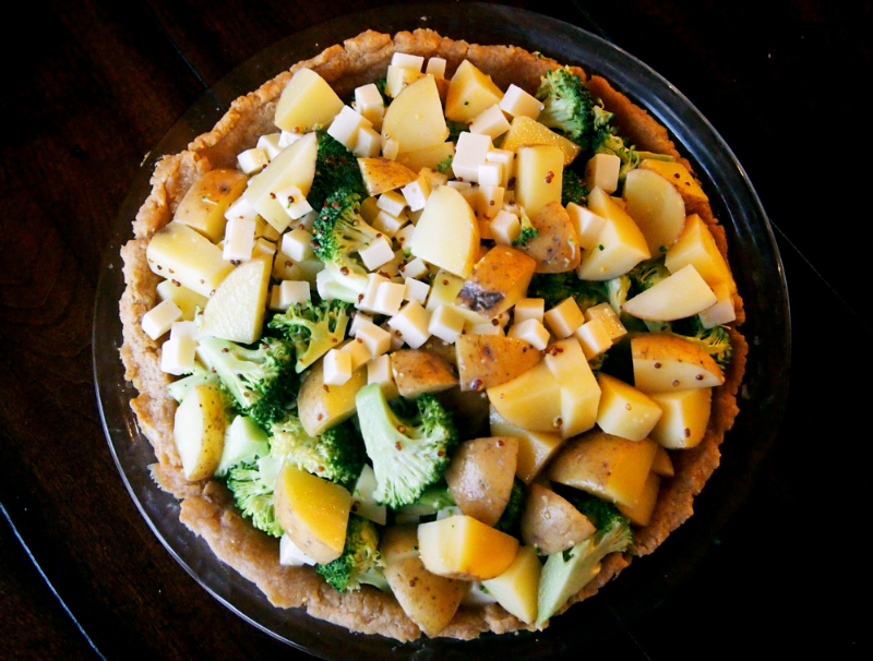 broccoli-potato-gruyere-tart-butter-cracker-crust