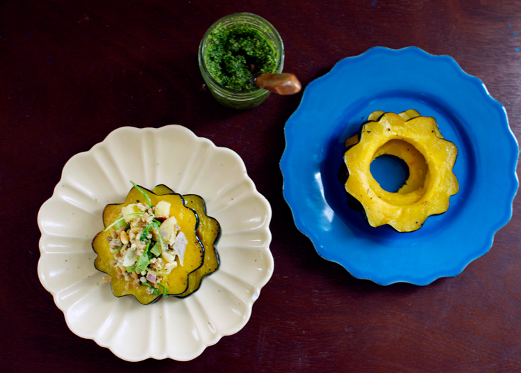 basil-pesto-farro-roasted-acorn-squash