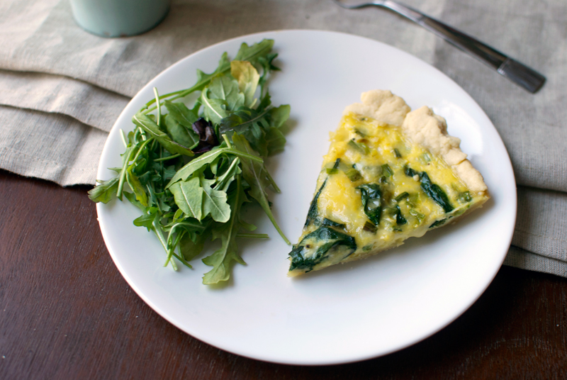 spinach-gouda-green-onion-quiche