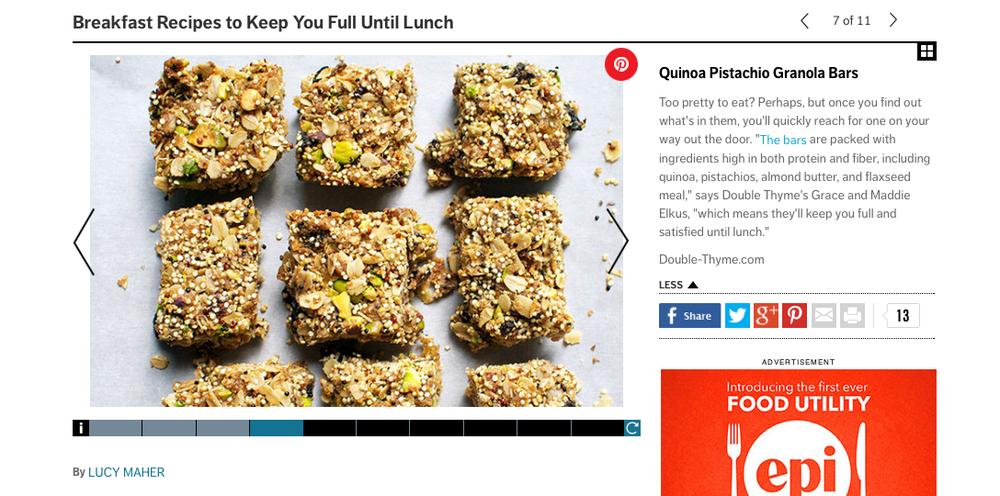 self-granola-bars