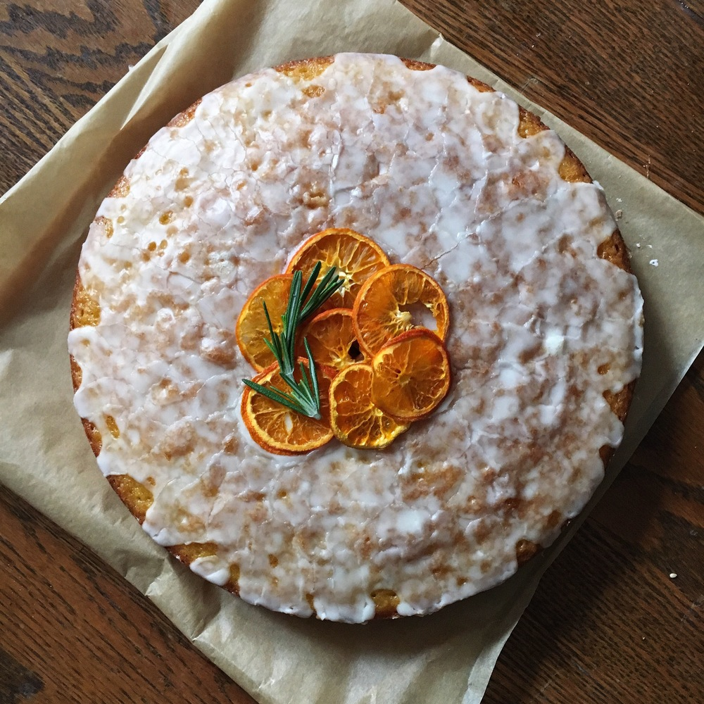 olive oil cake with clementine and rosemary — double thyme