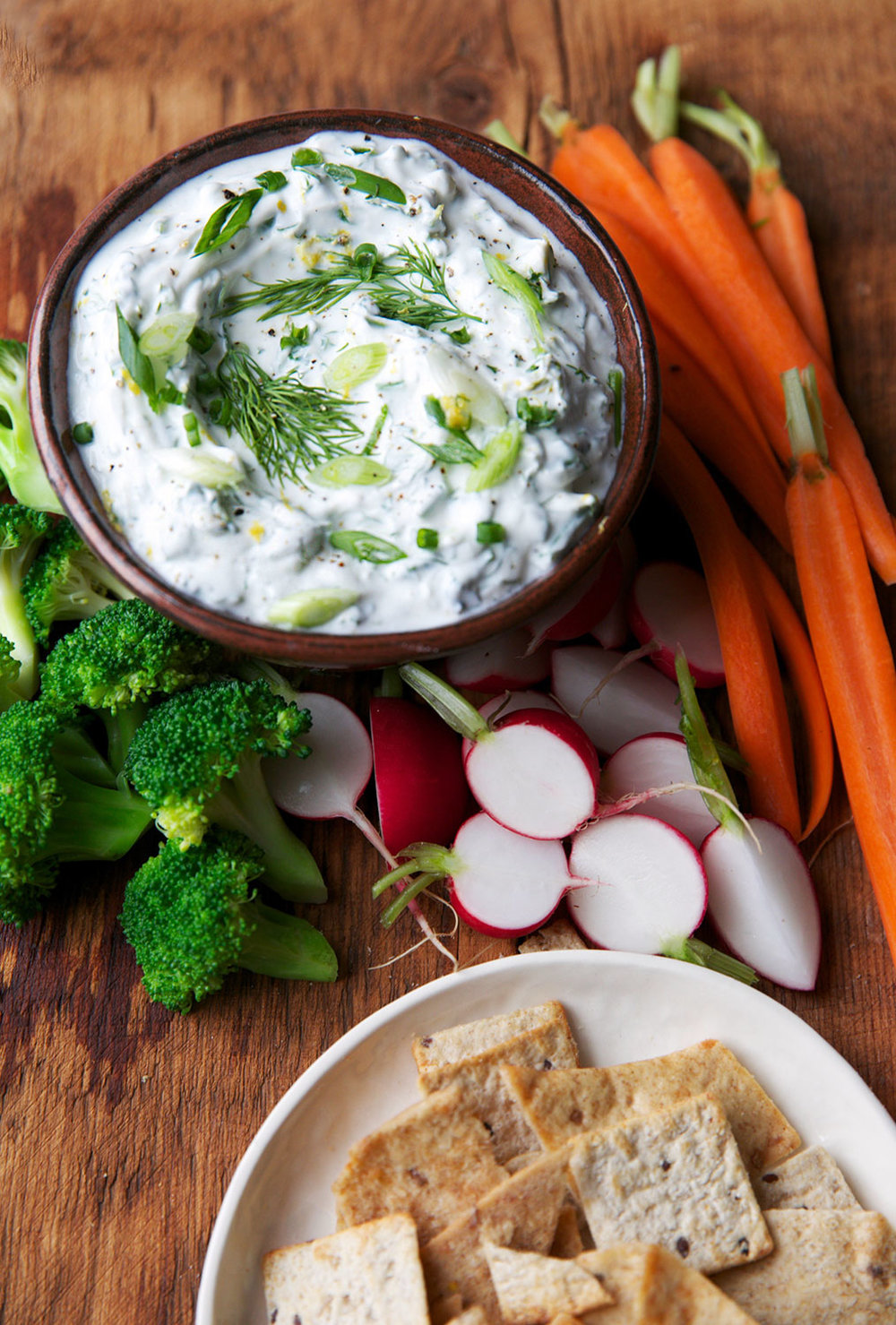 Lemon-y Herb Yogurt Dip
