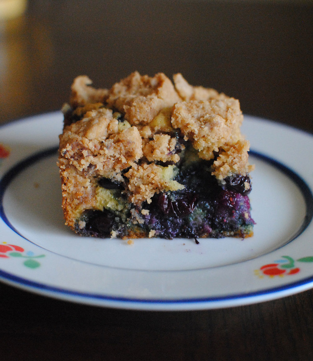 big crumb blueberry coffee cake