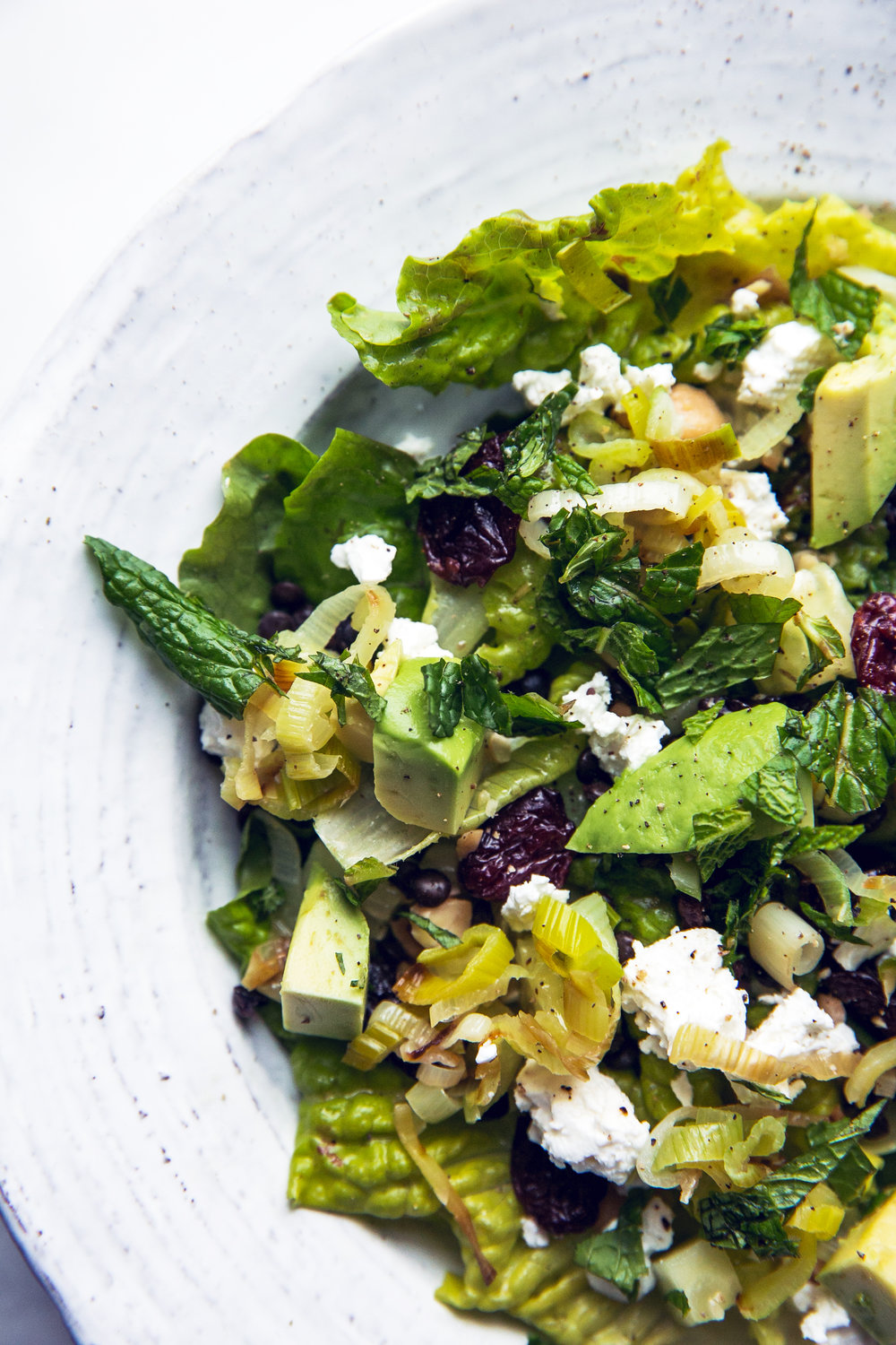 Black Lentil, Feta, and Avocado Salad With Lemon-Dijon Vinaigrette