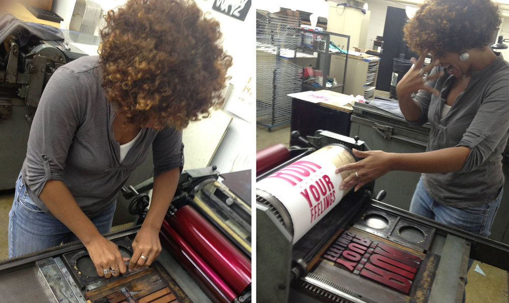 Letterpress printing can be a nerve-wracking experience!