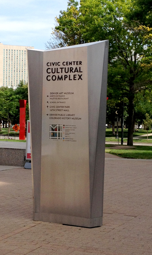 Environmental graphics for Denver's Civic Center Cultural Complex
