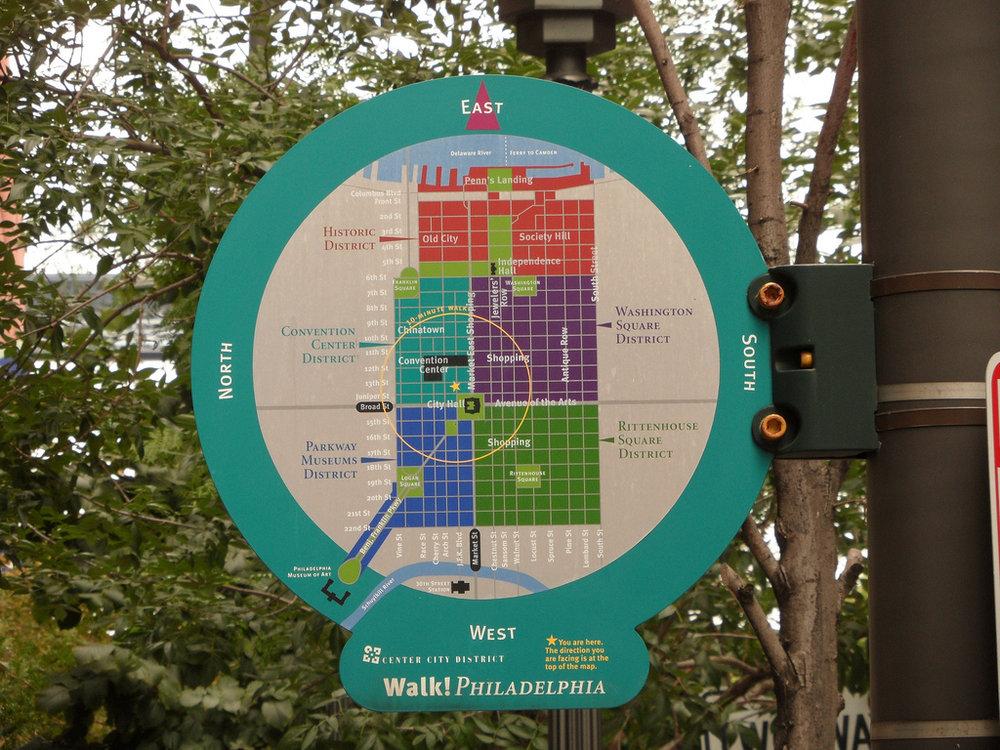 Joel Katz Design Associates // Walk! Philadelphia signage system
