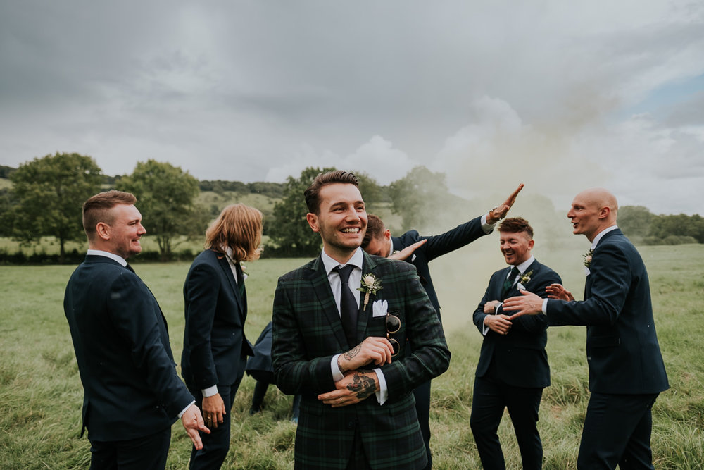 Joanna Nicole Photography cool fun alternative wedding smoke bomb groomsmen (16 of 26).jpg