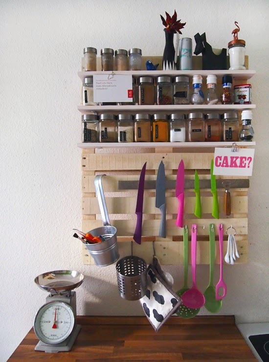 repisa para cocina de pallets