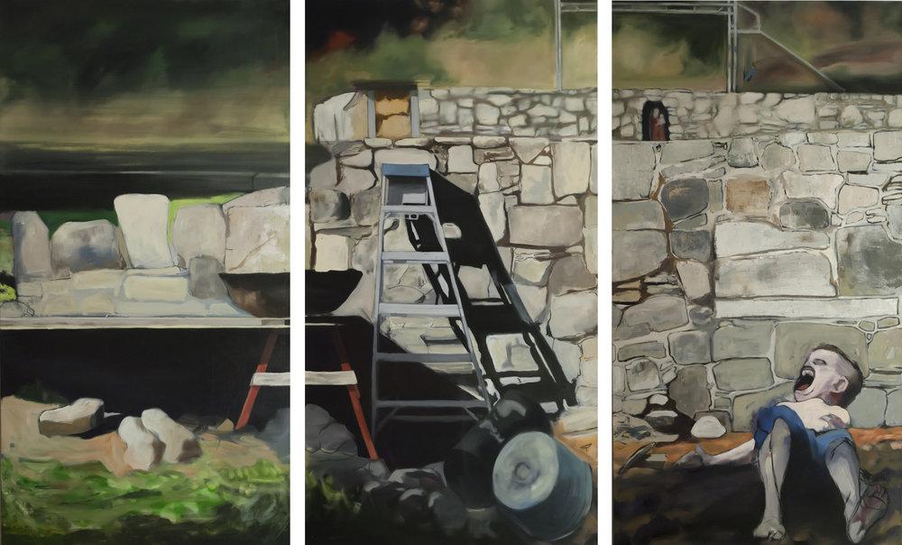 Shepherd's Hill  Oil on Canvas  (3) 36 x 68 in. (Triptych)