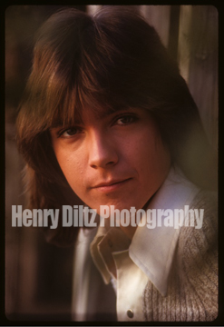 "An original Henry Diltz photo of David Cassidy taken on the Columbia Ranch back lot during the  sessions that produced the photos for David's first album, ""Cherish."" Offered exclusively to this campaign, in limited quantities by Henry Diltz."