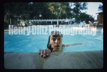 "David Cassidy in his pool, July 1973. From the sessions that produced ""Dreams Are Nuthin' More Than Wishes."""